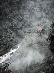 The hut at the waterfall (wianphoto) Tags: jungle olympusomdem5markii laos asia omdem5markii cloudy water image impressive nature stones clouds asien trees summer sunny hut waterfall olympusmzuiko1240mm forest tree wianphoto sky fog olympuspro1240mm omdem5mark2 dream river
