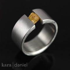 raw diamond ~ tension-set ring (kara   daniel) Tags: wedding engagement jewelry diamond rings weddingring custom stainless tensionsetting tensionset rawdiamond kara danieljewelry