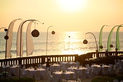 Seaside Dinner (brianfarrell) Tags: ocean sea bali indonesia relax march surf peace lot wave serene relaxed tranquil tanahlot tanah 2013