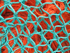 A school of fish ... ing nets (ambo333) Tags: uk england fish net fishing harbour knot cumbria nets netting knots nylon fishingnets maryport