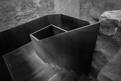 Abstract Still Life, Stairs in the Moritzburg. (Justin Barrie Kelly) Tags: abstract geometric stairs spiral steel handrail geometrical sculptural blackandwhitephotography moritzburg spiralling geometricalart