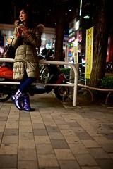 purple boots (sinkdd) Tags: street girl japan 35mm tokyo nikon shinjuku purple boots f14 sigma 東京 新宿 d800 iphone streetsnap nikond800 sinkdd sigma35mmf14dghsm