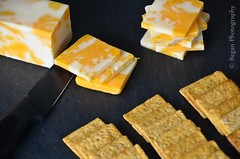 Cheese & Crackers (Tim.Regan) Tags: light cheese jack natural wheat barrel knife snack slate crate crackers cheddar colby thins