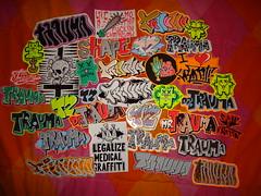 all stickers (.Trauma .) Tags: portugal graffiti sticker trade trauma troca