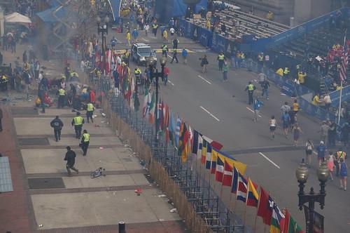 8652855355 aea9de98f8 Ground Zero at the 2013 Boston Marathon Explosion  photo