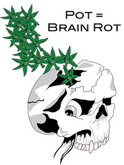 Pot = Brain Rot (xlauragracex) Tags: death skull graphicdesign weed smoking pot illustrator marijuana antismoking lauragrace brainrot abovetheinfluence