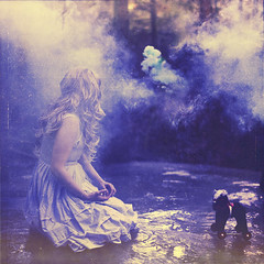 Loosing sight (Beata Rydn) Tags: horse ice childhood forest lost smoke imagination dreamy conceptual whimsical imaginative fineartphotography toyhorse smokebomb minihorse conceptualphotography photographicartist fotokonst swedishphotography beatarydn konceptuelltfotografi fotokonstnr svensktfotografi rootsofimagination iceinforest