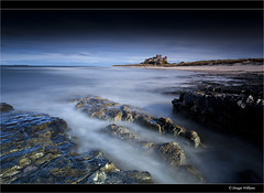 Bamburgh Rocks (Explored 16th April 2013) (Dougie Williams) Tags: longexposure beach rock landscape landscapes long seascapes horizon explore northumberland northumbria lee 5d bamburgh 1740mm dougie stopper exposures longexposures bythesea bamburghcastle explored northumberlandlandscapesgeotagged 5dmkii bigstopper nd10stop leebigstopper landscapephotographymagazine dougiewilliams