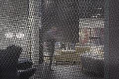 I-MESH: transparent yet isolating (I-MESH) Tags: wall booth installation isolation transparent salonedelmobile panelling scenography natuzzi imesh sailmakerinternationalspa gaetanoleogrande