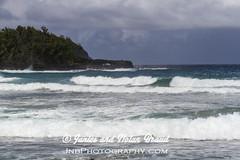 Kaihalulu Red Sand Beach on the Road to Hana JN074112 (JaniceNolan_braud) Tags: ocean beach hawaii dangerous maui pacificocean tropical roadtohana roughwater redsandbeach roughocean kaihaluluredsandbeach