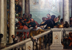 Detail of left stair, Paolo Veronese, Feast in the House of Levi