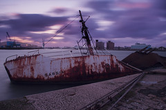 Slipping Away (Paul's Picx) Tags: dock vessel shipwreck birkenhead sunk wallasey berth fisheries eastfloat sarsia