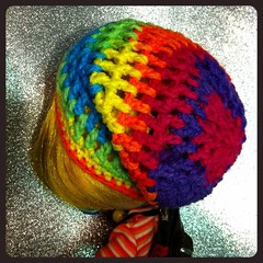 Rainbow Slouchy Mesh Hat