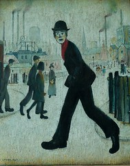Walking Man (Smabs Sputzer) Tags: city art painting manchester gallery industrial ls lowry