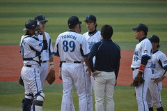 DSC_0049 (mechiko) Tags: デニー友利 王溢正 横浜denaベイスターズ
