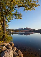 Mirror Lake (Robert Wash) Tags: lake ny newyork landscape mirrorlake adirondacks fallfoliage adk lakeplacid whitefacemountain