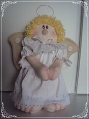Anjinho da guarda (Velucinha arte em pano) Tags: da em anjo guarda anjinho tecido