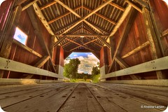 Covered Bridge (Andrew E. Larsen) Tags: bridge newengland newhampshire coveredbridge papalars a3b andrewlarsenphotography