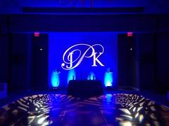 Blue Lighting - Monogram Projection - Pattern Projection - W Hotel Austin