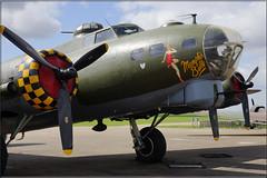 "G-BEDF 44-85784 ""Sally B"" Boeing B-17 Flying Fortress (PaulHP) Tags: museum flying war memphis aircraft b17 duxford imperial belle boeing fortress cambridgeshire iwm sallyb gbedf 4485784"