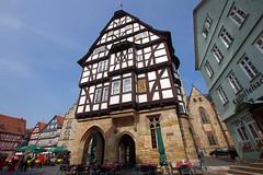 Make way for the Town Hall! (Alsfeld, Hessen) (armxesde) Tags: germany deutschland hessen pentax townhall rathaus k5 alsfeld timberframed