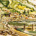 "<b>Weggis, Switzerland</b><br/> Paul D. Running, LFAC# 299, Watercolor, Painting<a href=""//farm9.static.flickr.com/8119/8698380931_38a8f3266c_o.jpg"" title=""High res"">&prop;</a>"