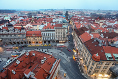 BIRD'S EYE VIEW OF PRAGUE (Rober1000x) Tags: longexposure tower lights europa prague praha czechrepublic cityview malastrana 2013