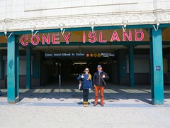 Coney Island, NYC (Timbo_a_go_go) Tags: simon up station sign subway island happy saturated tourists signage lettering coney thumbs susanna