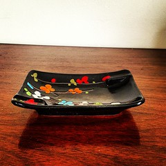 Vintage Ceramic Ashtray, Italy. (Alice et Christine) Tags: italy black vintage square ceramic japanese lofi squareformat ashtray iphoneography instagramapp uploaded:by=instagram atzens