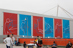 London_2012_ExCel_Paralympic_Sports_Banners_E1_4726 (Firing Canon) Tags: london sign signage banners spectators 2012 excel paralympics london2012 livery paralympic paralympicgames locog competitionvenue