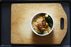 breakfast noodles (Minh Hoang/Chi Bo) Tags: yummy eating board broccoli vietnam delicious eat carrot cutting saigon sauces freshness