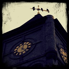 vultures and clock tower (kindred threads) Tags: magichour