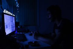 Gamer (EdTheZombie004) Tags: selfportrait canon lowlight kitlens xbox monitor gamer font 8bit zombies ef1855mm eos60d blackops2