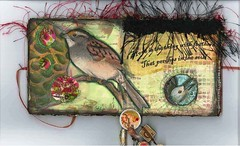 Bird Feather Nest 2 (eggstudio) Tags: art collage altered paper alteredart greer eggstudio