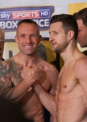 Mikkel Kessler & Carl Froch (paulgmccabe) Tags: uk england sky london english smile hat sport tattoo michael george tv fight britain live champion super professional mc boxer match eddie boxing weighin weight groves buffer kessler bout hearn masterofceremonies ppv promoter middleweight matchroom supermiddleweight froch