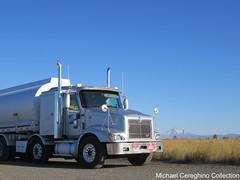 Leathers Fuels International 9400i, Truck #50 (Michael Cereghino (Avsfan118)) Tags: leathers enterprises fuels international ih 9400 9400i eagle sleeper tanker truck semi tractor trailer set