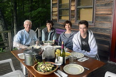 Dinner on the porch (rachel.roze) Tags: dinner table dad mum porch miles catskills tami july2016