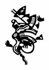 Snake-hips Johnsonshifting paradigms. (Don Moyer) Tags: ink drawing doodle moleskine notebook moyer donmoyer brushpen snakehips paradigm