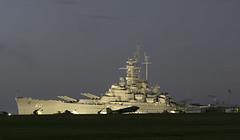 USS Alabama at Dawn (dcnelson1898) Tags: mobile alabama mobilebay ussalabamabb60 battleship usnavy worldwar2 warship dawn longexposure nikond500 battleshipmemorialpark travel tour vacation
