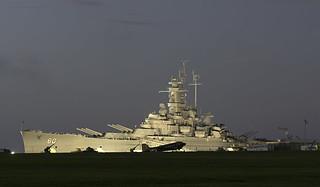 USS Alabama at Dawn