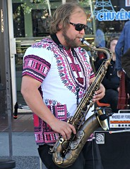 Funky (knightbefore_99) Tags: vancouver eastvan 2016 june music party commercialdrive city summer band cool sax bald funk car free day italian italy awesome art