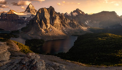 Mount Assiniboine Sunset (jasonfdarr) Tags: vancouver canadianrockies jasondarr water mountains outdoors canada rocks sunset mountassiniboine clouds
