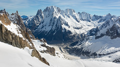 View from the Vallée Blanche cable car (Lyall Bouchard) Tags: aiguilledumidi montblanc france italy panoramic chamonix pointehelbronner