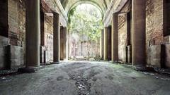 Eden (suspiciousminds) Tags: urbex urbanexploration decay abandoned pillars columns derelict interior architecture old