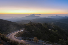 Inthanon Viewpoint (KRW_GNS) Tags: doi inthanon thailand national park sunrise background beautiful travel nature mountain mai sky chiang morning natural view blue color landscape mist cloud asia dawn fog sunlight beauty valley white fresh season tree outdoor scene high scenic hill chiangmai green light