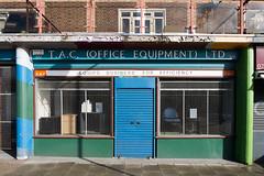 T.A.C. (Office Equipment) Ltd. - New Cross (photosam) Tags: fujifilm xe1 fujifilmx raw lightroom xc1650mm13556ois xc1650mmf3556ois newcross shopfront wideangle london england unitedkingdom