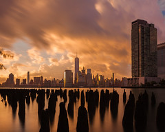 Golden Clouds (HaVoC Studios) Tags: new york city spectacular sunrise sunset golden pier freedom one world trade hudson river shadows mother nature architecture landscape cityscape i love nyc