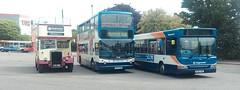 exeter line up! (BayDevon) Tags: buses stagecoach southwest exeter 34861 17735 19992 pd2 devon general
