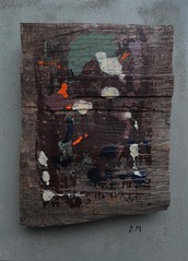 Doucement (drager meurtant) Tags: painting panel mixedmedia assemblage contemporary dragermeurtant objettrouv