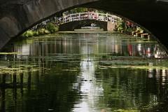 reflection (osswald.heuft) Tags: bridg brcke structure struktur summer sommer abstrakt diagonal linien architektur gebude geometrisch symmetrie denhaag thehague netherlands holland niederlande natur nature